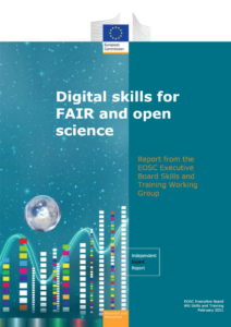 Cover of the report Digital skills for FAIR and Open Science